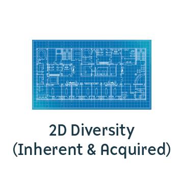 Icon representing 2D Diversity